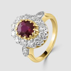 Ruby and diamond Victorian ring