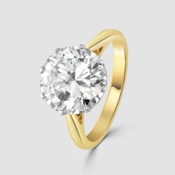 Solitaire single stone diamond ring