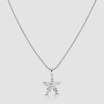 Marquise diamond star pendant