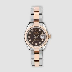 Stainless steel and 18ct Everose gold Rolex Lady Datejust 28mm