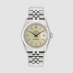 Stainless steel and 18ct white gold Rolex Datejust