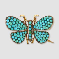 Turquoise Butterfly Brooch