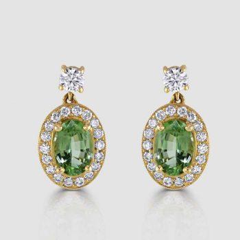 Chrome tourmaline earrings