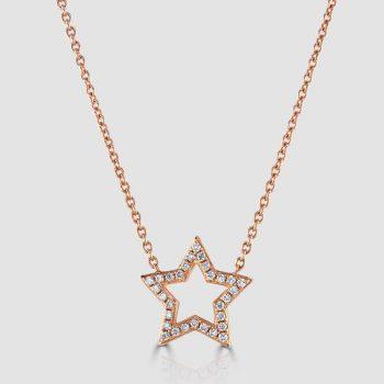 Rose gold star pendant