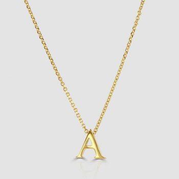 9ct letter A pendant
