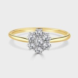 1920's 18ct old cut diamond ring