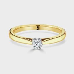 18ct single stone diamond ring