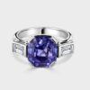 3 stone sapphire and diamond ring