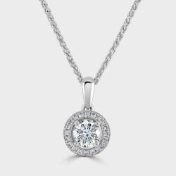 Halo style diamond pendant