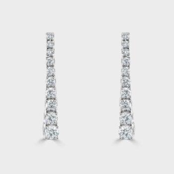 Graduated diamond drop earrings