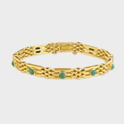 Victorian turquoise gate bracelet