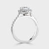 Platinum Halo set diamond ring