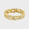 Floral 18ct yellow gold diamond ring
