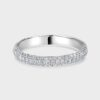 Fully diamond set platinum ring