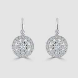 Diamond deco style earrings