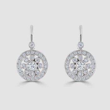Diamond deco style earrings