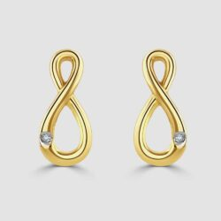 9ct yellow gold infinity earrings