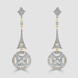 Beautiful diamond drop earrings
