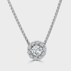 Diamond cluster pendant with invisible bale