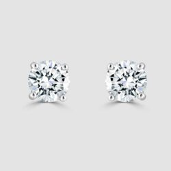 18ct Classic diamond stud earrings