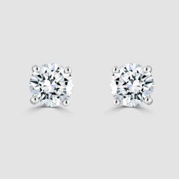 18ct Classic diamond stud earrings