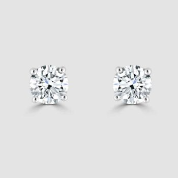 18ct diamond certificated diamond earrings
