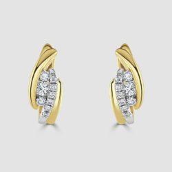 Diamond small hoop style earrings