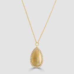Pear drop pretty opal pendant