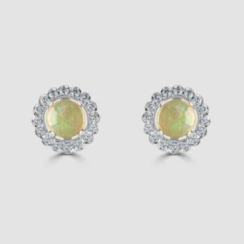 18ct opal diamond earrings