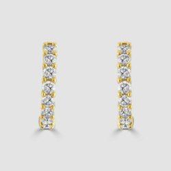 18ct yellow gold diamond hoops
