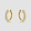 18ct yellow gold diamond hoops