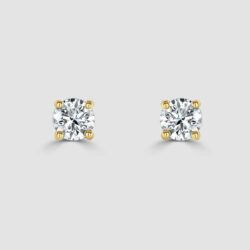 18ct yellow gold diamond studs