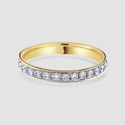 18ct Rose gold diamond band