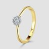Small cluster diamond ring