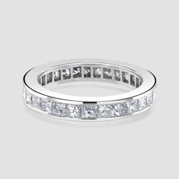 18ct white gold full eternity ring