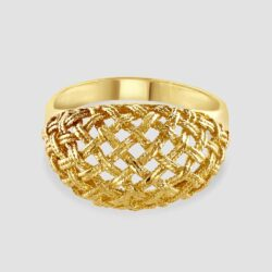 14ct basket weave ring