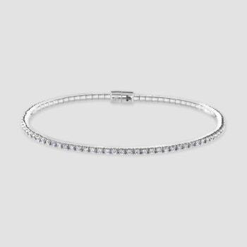 18ct White gold diamond bangle