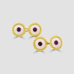 18ct antique Amethyst cufflinks