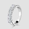 Platinum 5 stone eternity ring