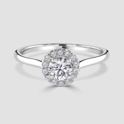 Pretty halo diamond ring