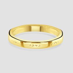 9ct yellow gold slight shaped band