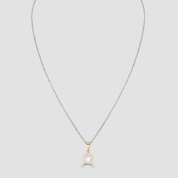 Pink Cultured pearl pendant