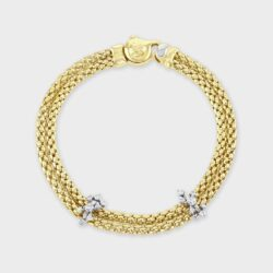 18ct yellow gold Fope bracelet.