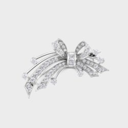 Platinum spray brooch