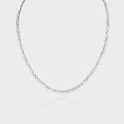3ct diamond half revere necklace.