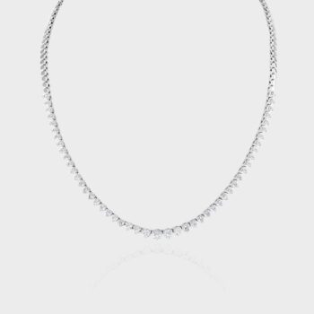 3ct diamond half revere necklace.