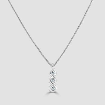 Trilogy diamond pendant