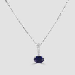 18ct Sapphire and diamond pendant