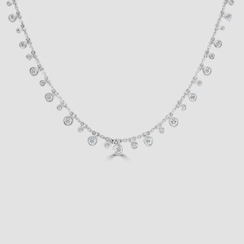 18ct diamond fringe necklace