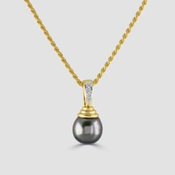 18ct Tahitian pearl pendant and chain